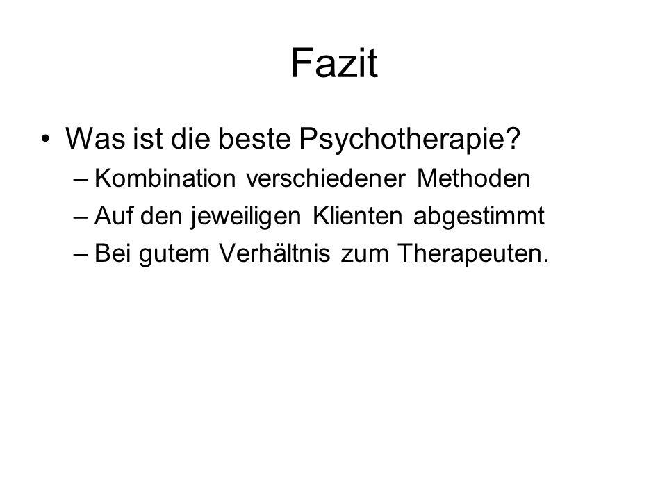 Fazit Was ist die beste Psychotherapie