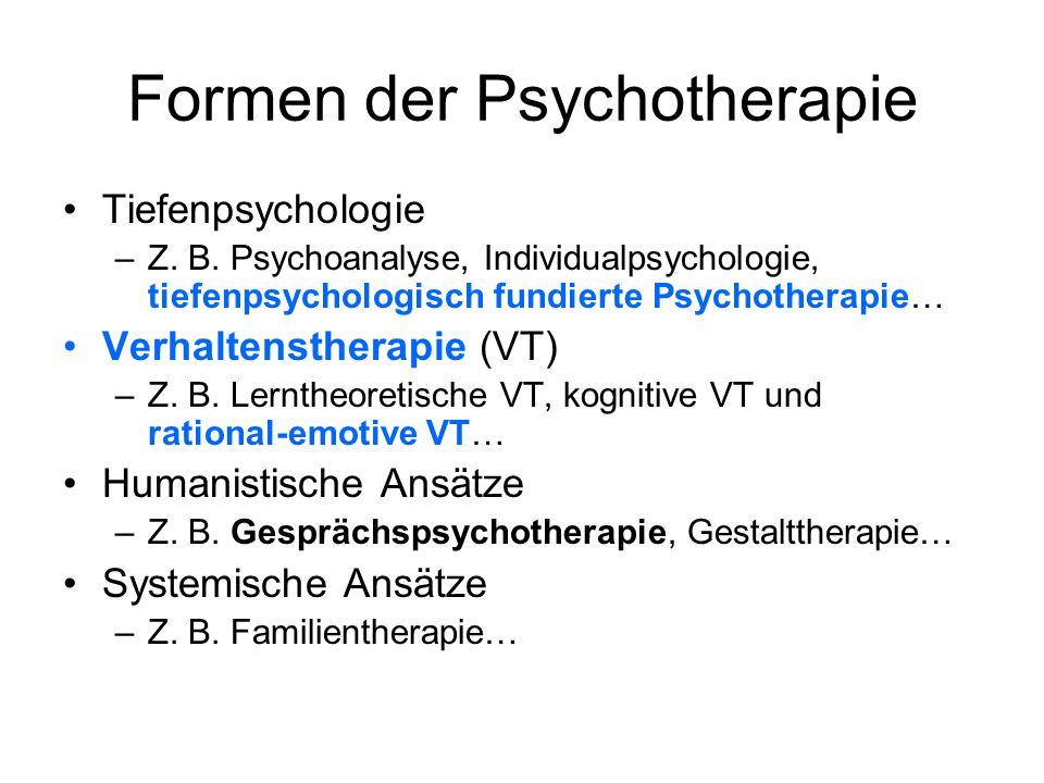 Formen der Psychotherapie