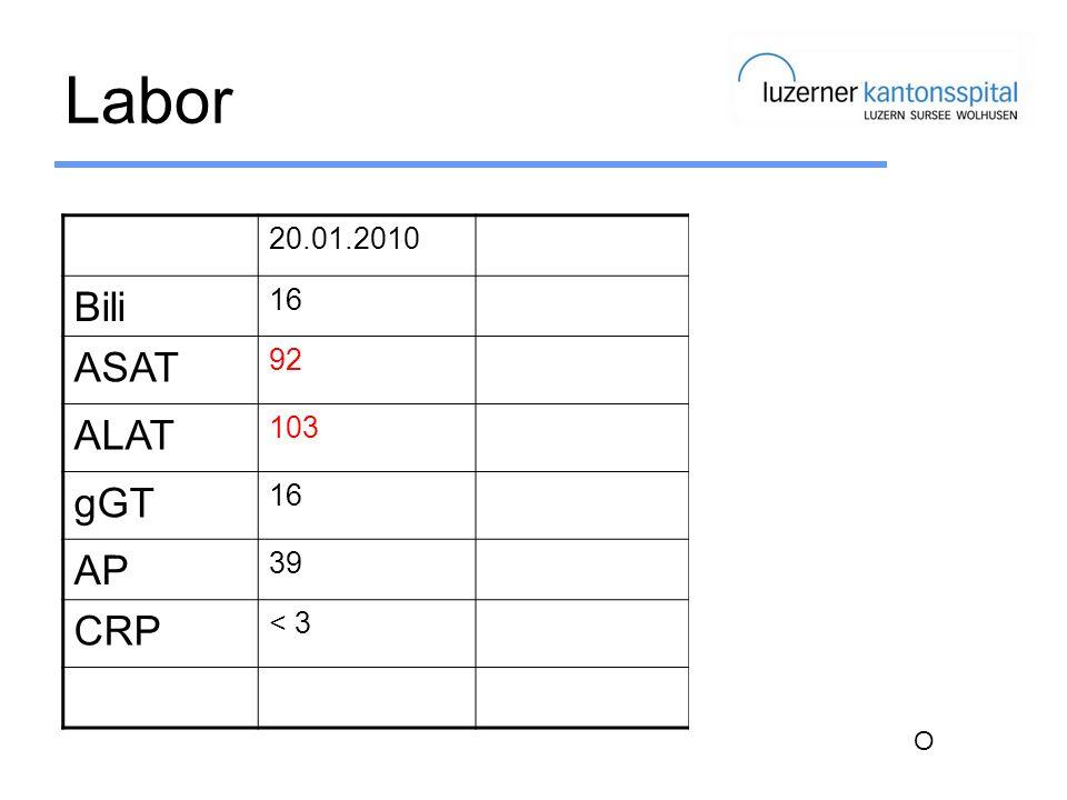 Labor Bili ASAT ALAT gGT AP CRP 20.01.2010 02.07.2010 16 92 30 103