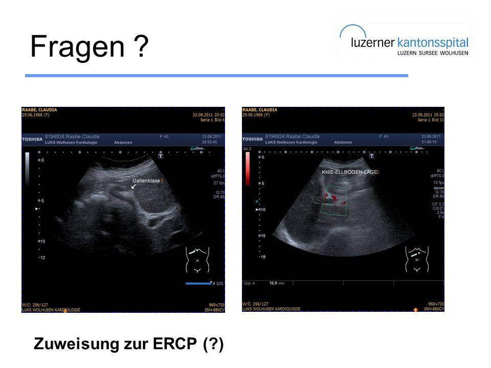 Fragen Zuweisung zur ERCP ( )