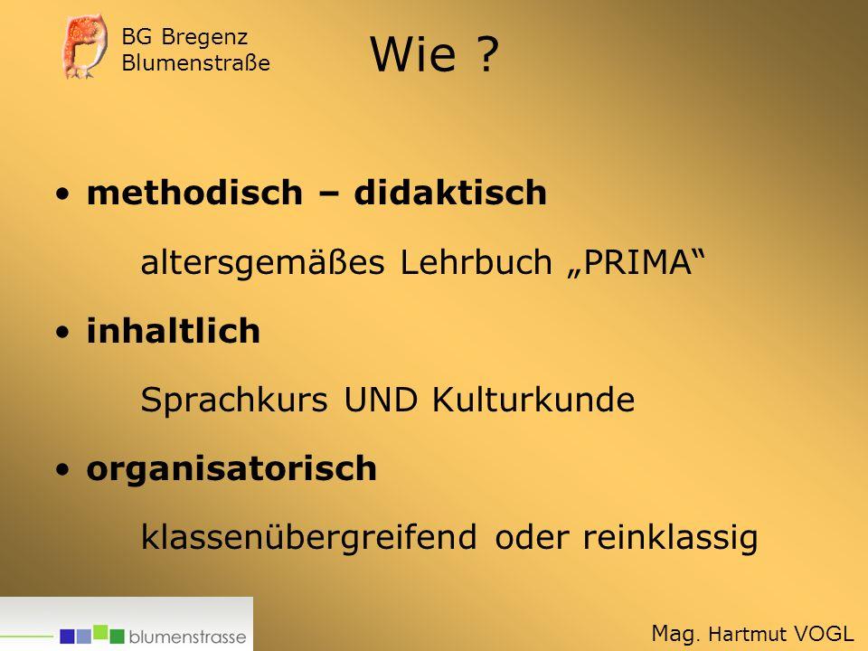 """Wie methodisch – didaktisch altersgemäßes Lehrbuch """"PRIMA"""