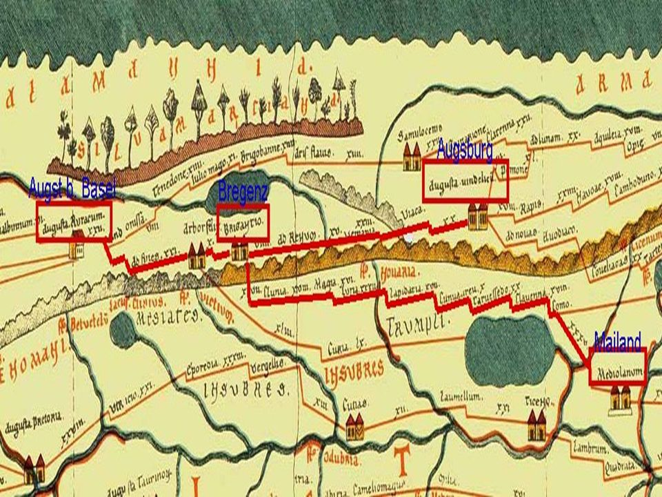 Schon in der Antike war Bregenz als wichtiger Verkehrsknotenpunkt bekannt.