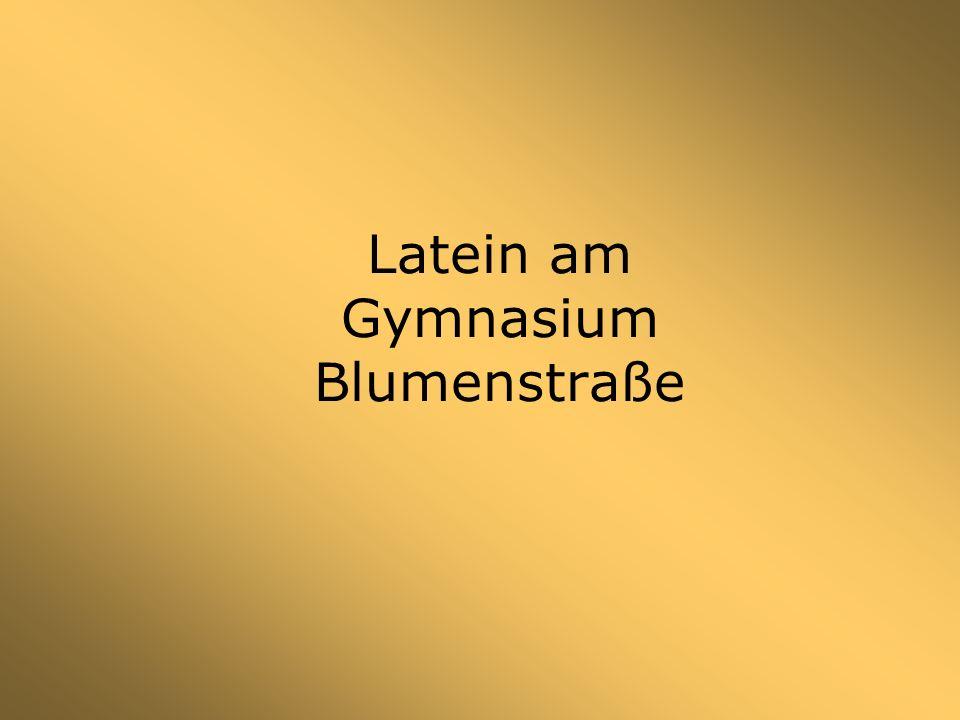 Latein am Gymnasium Blumenstraße