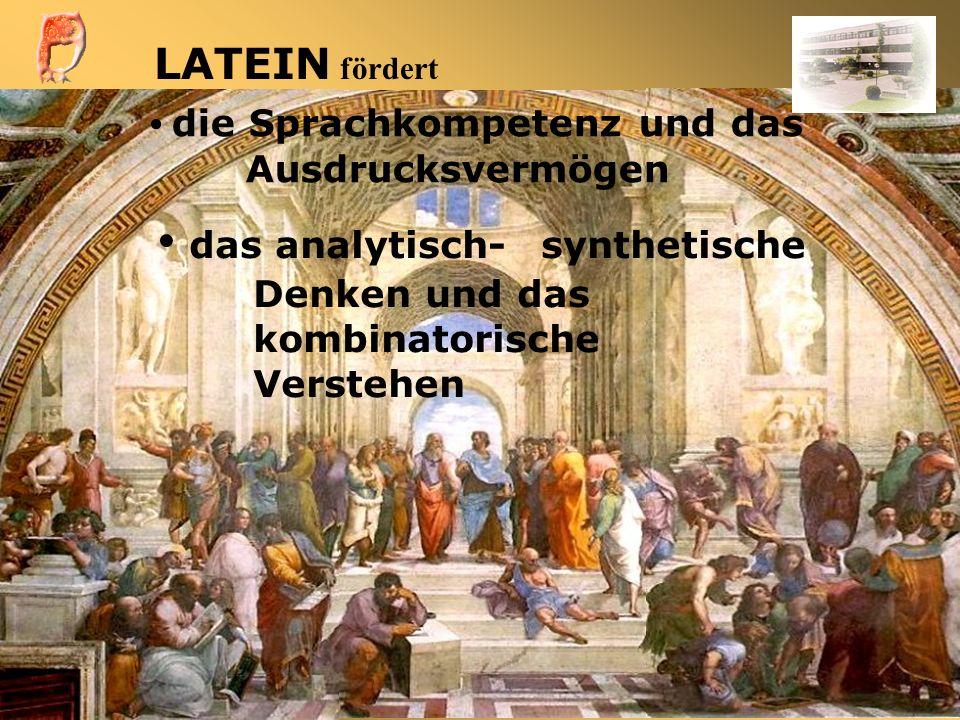 das analytisch- synthetische Denken und das kombinatorische Verstehen