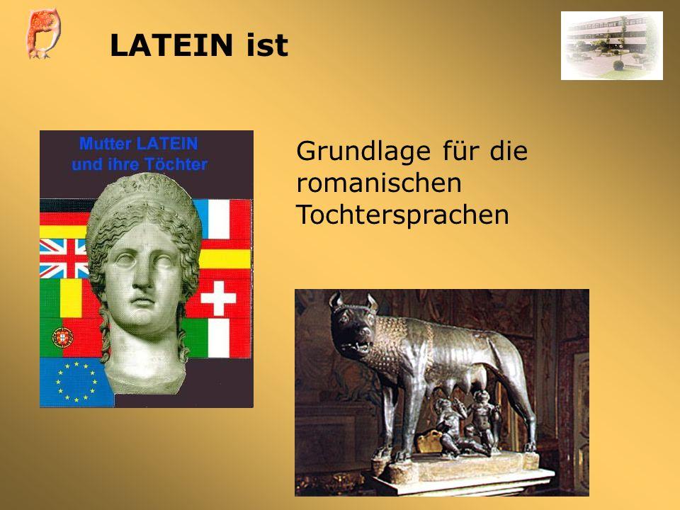 LATEIN ist Grundlage für die romanischen Tochtersprachen