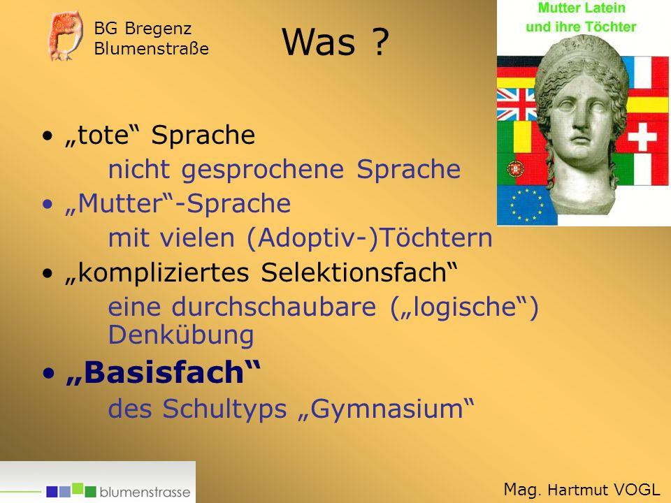 """Was """"Basisfach """"tote Sprache nicht gesprochene Sprache"""