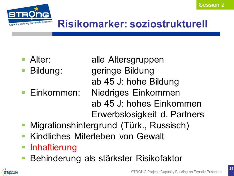 Risikomarker: soziostrukturell