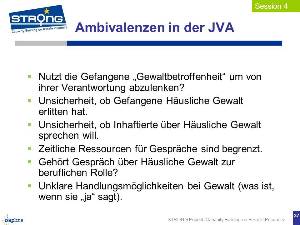 Ambivalenzen in der JVA