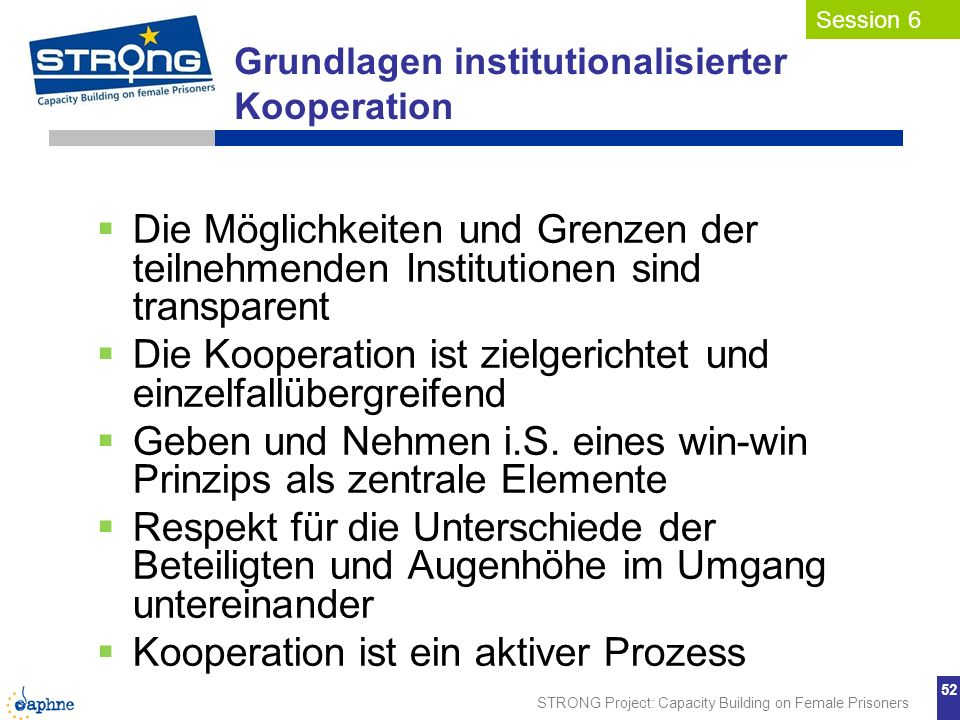 Grundlagen institutionalisierter Kooperation