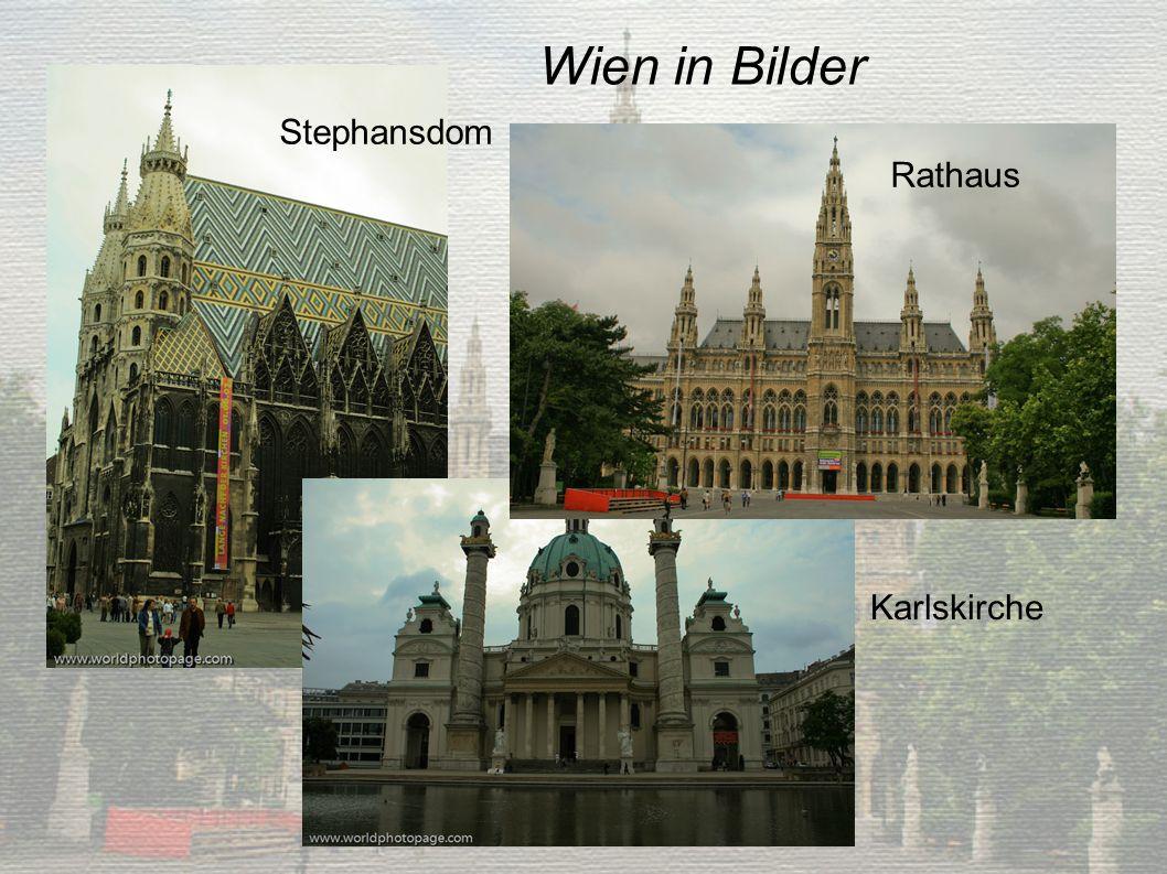 Wien in Bilder Stephansdom Rathaus Karlskirche