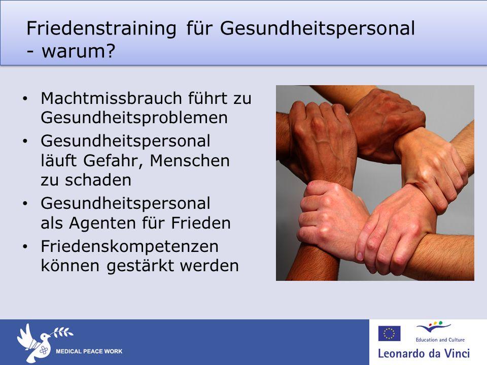 Friedenstraining für Gesundheitspersonal - warum