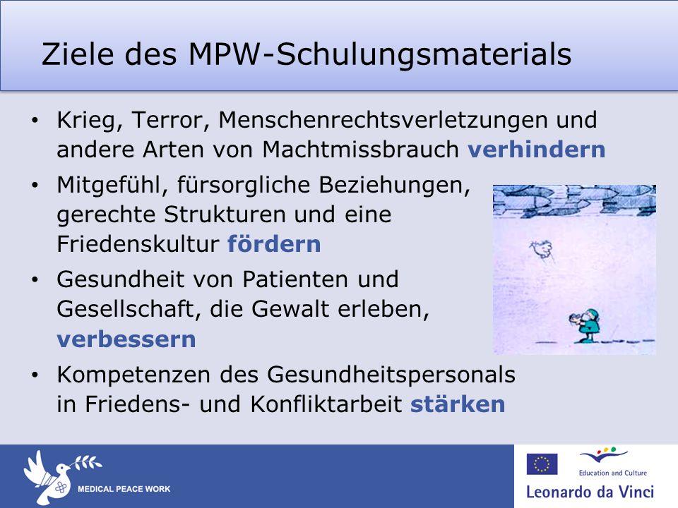Ziele des MPW-Schulungsmaterials