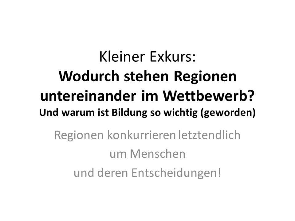 Kleiner Exkurs: Wodurch stehen Regionen untereinander im Wettbewerb