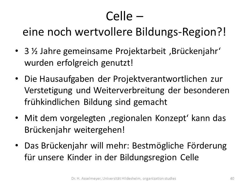 Celle – eine noch wertvollere Bildungs-Region !