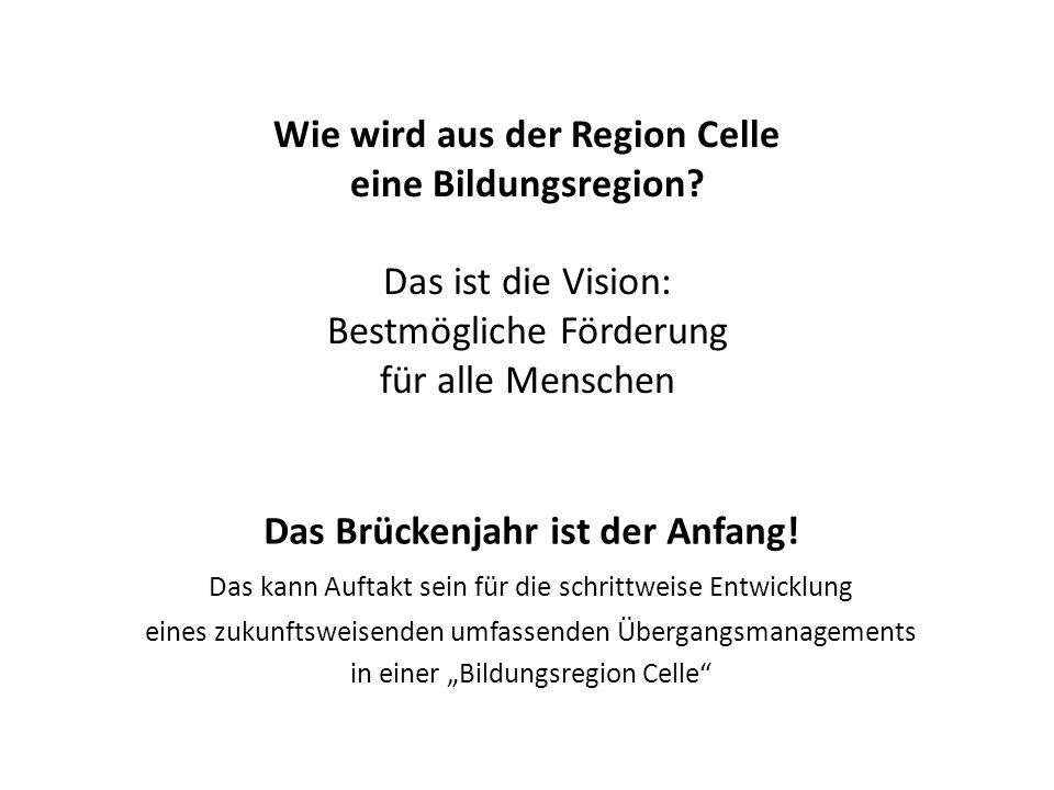 Wie wird aus der Region Celle eine Bildungsregion