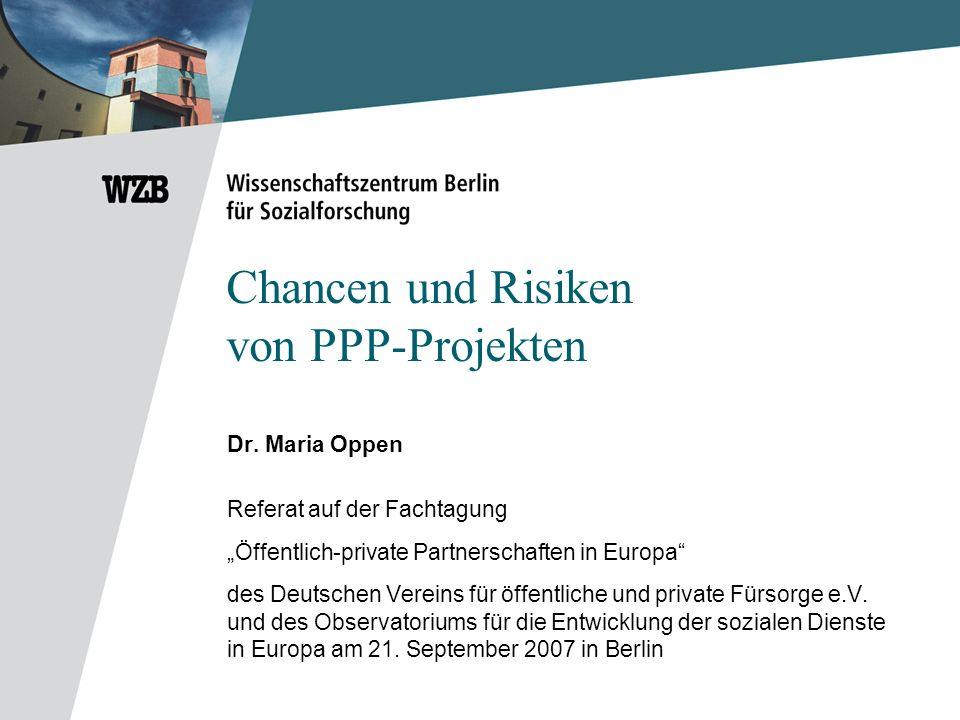 Chancen und Risiken von PPP-Projekten