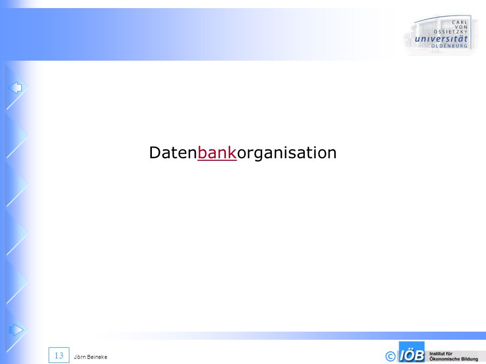 Datenbankorganisation
