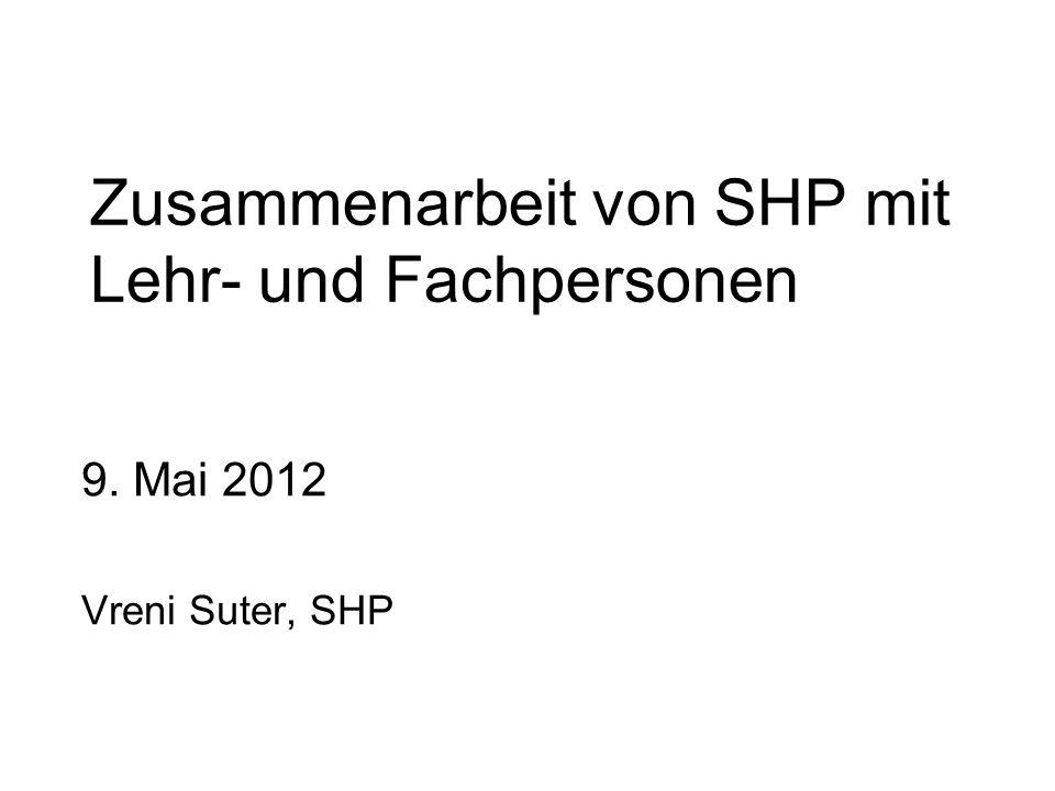 Zusammenarbeit von SHP mit Lehr- und Fachpersonen