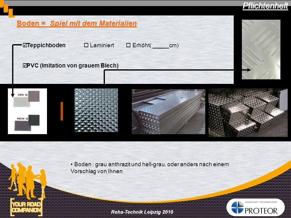 Boden = Spiel mit dem Materialien