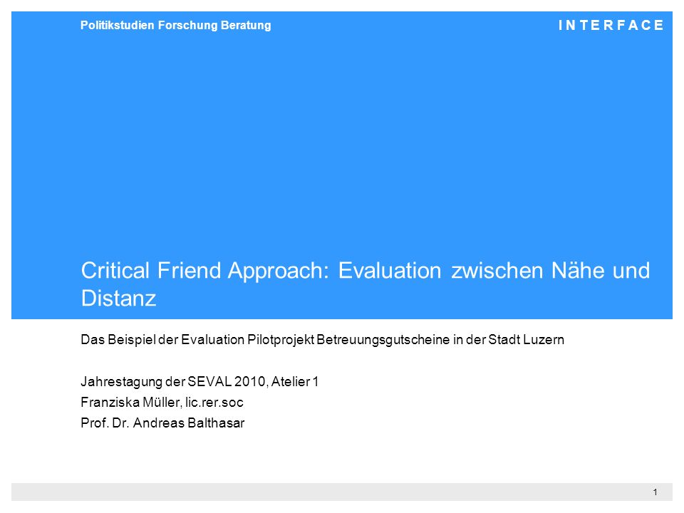 Critical Friend Approach: Evaluation zwischen Nähe und Distanz