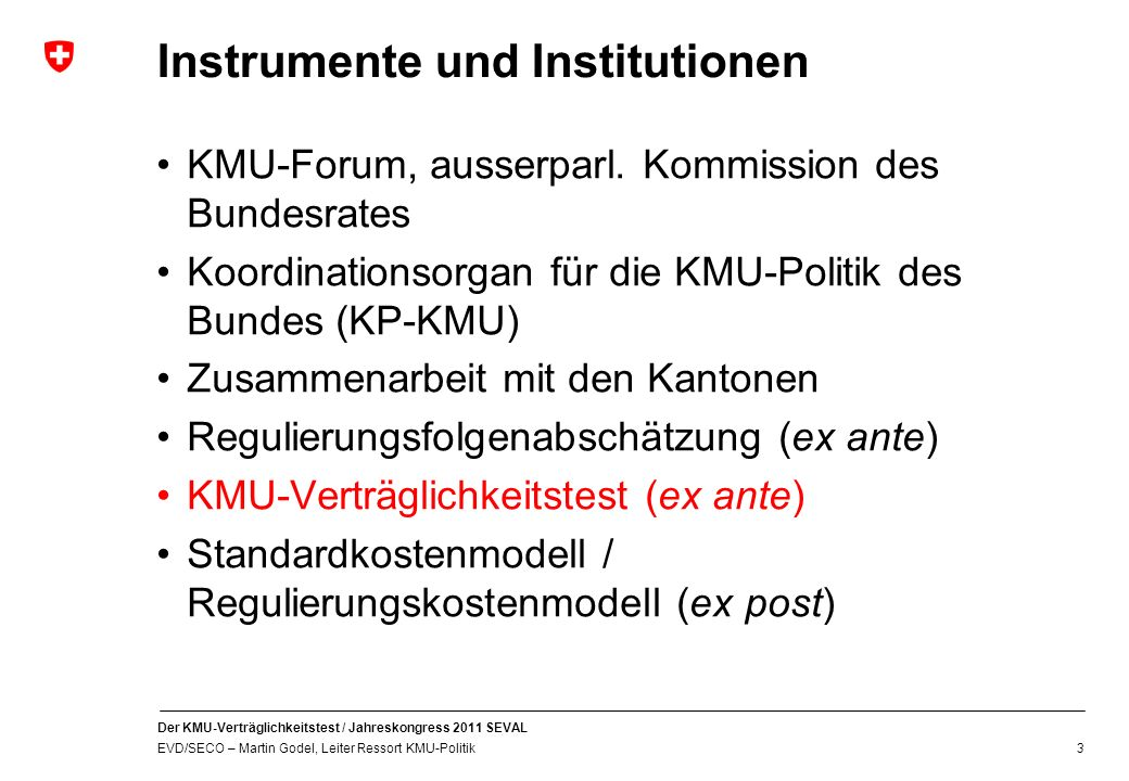 Instrumente und Institutionen