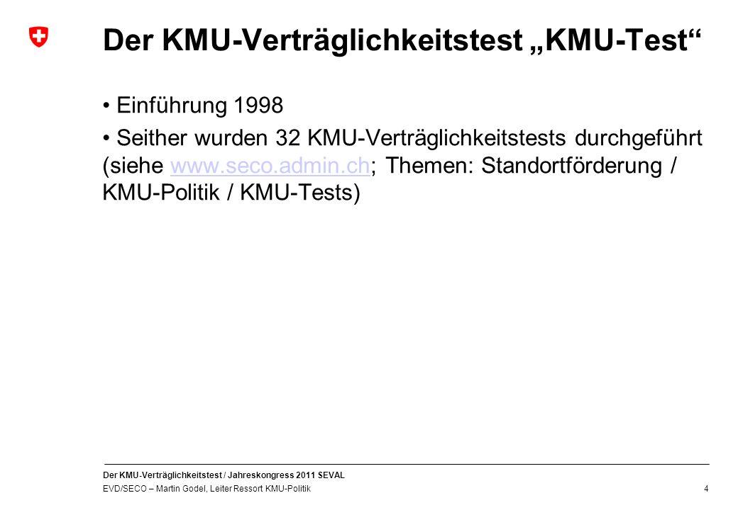 """Der KMU-Verträglichkeitstest """"KMU-Test"""