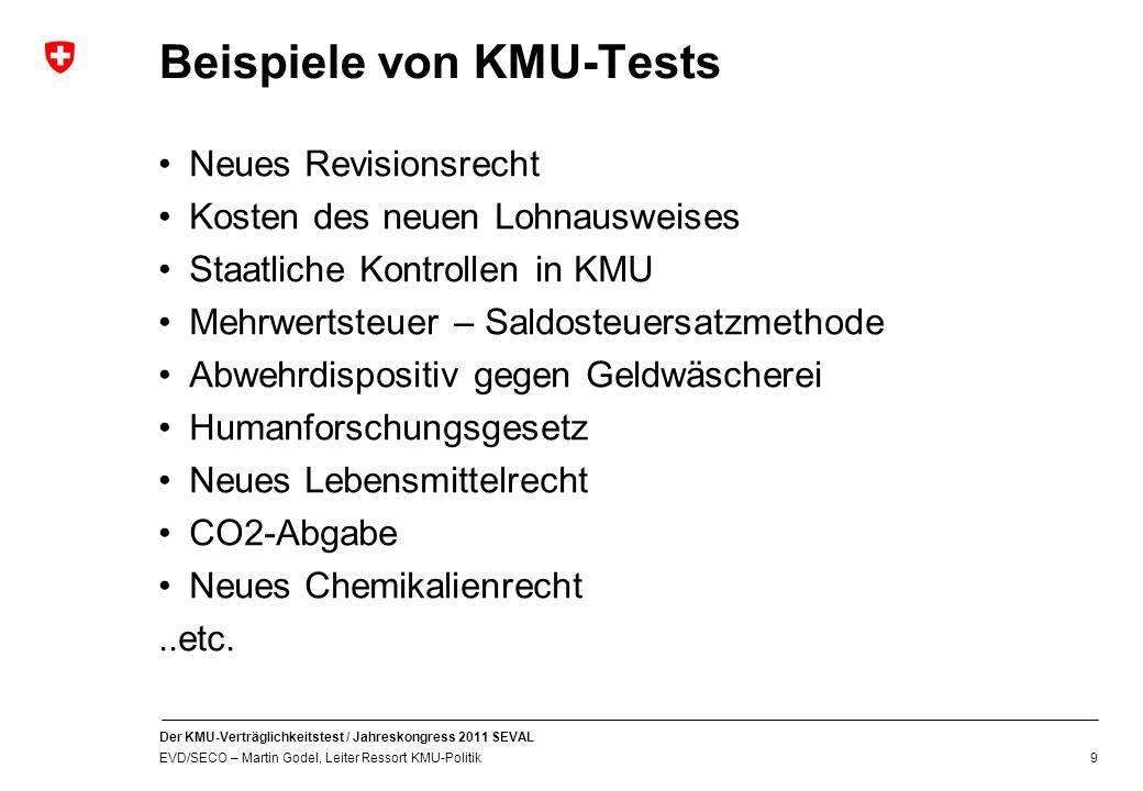 Beispiele von KMU-Tests