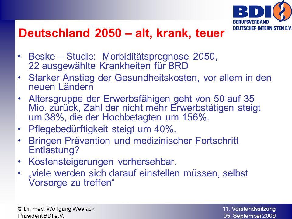 Deutschland 2050 – alt, krank, teuer