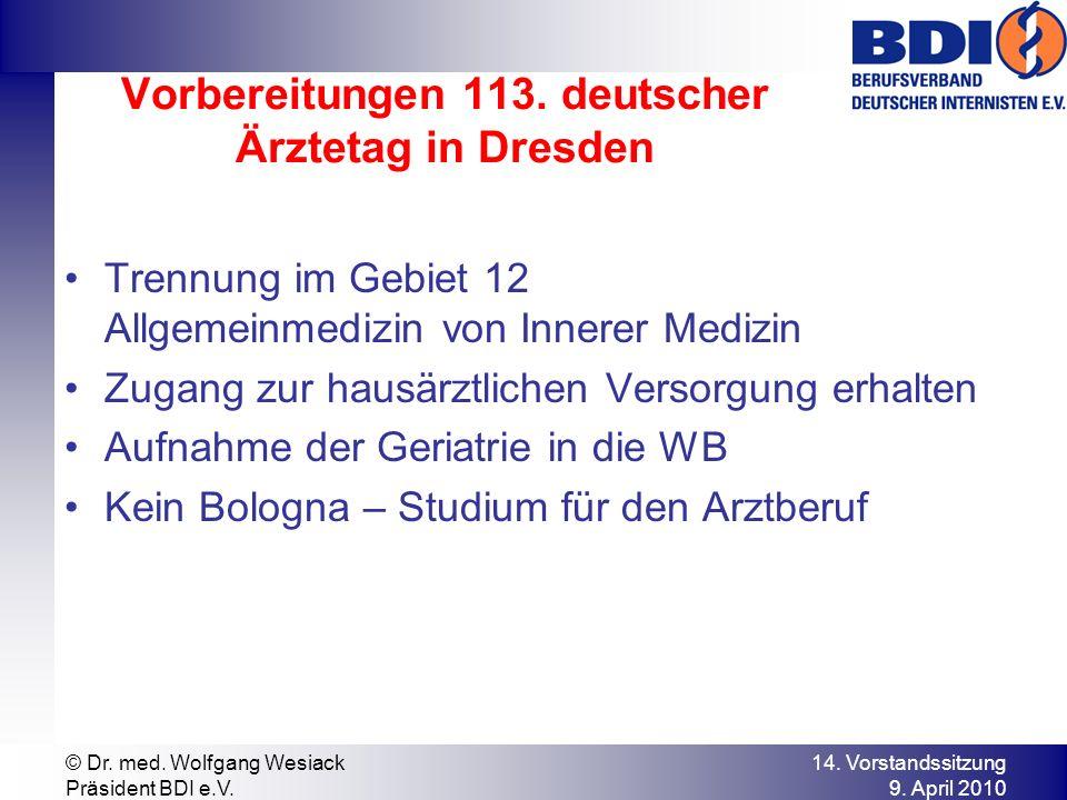 Vorbereitungen 113. deutscher Ärztetag in Dresden