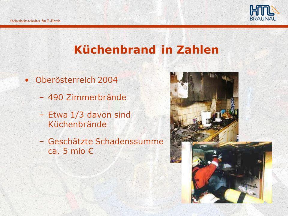 Küchenbrand in Zahlen Oberösterreich 2004 490 Zimmerbrände