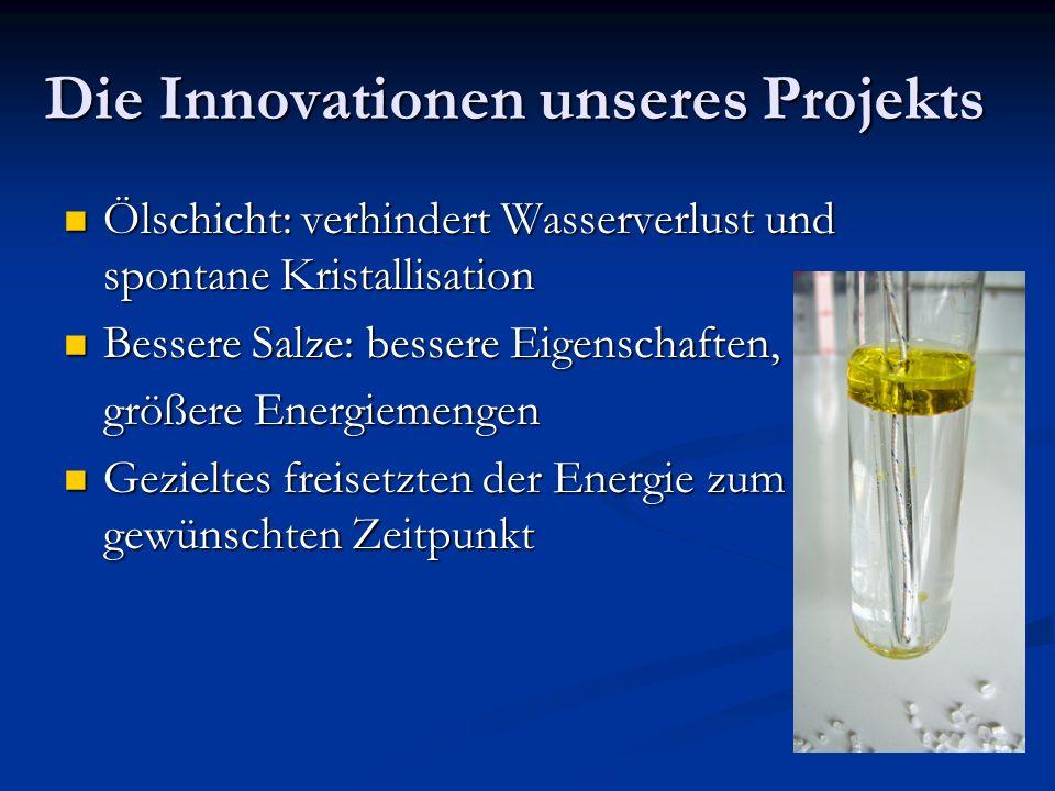 Die Innovationen unseres Projekts