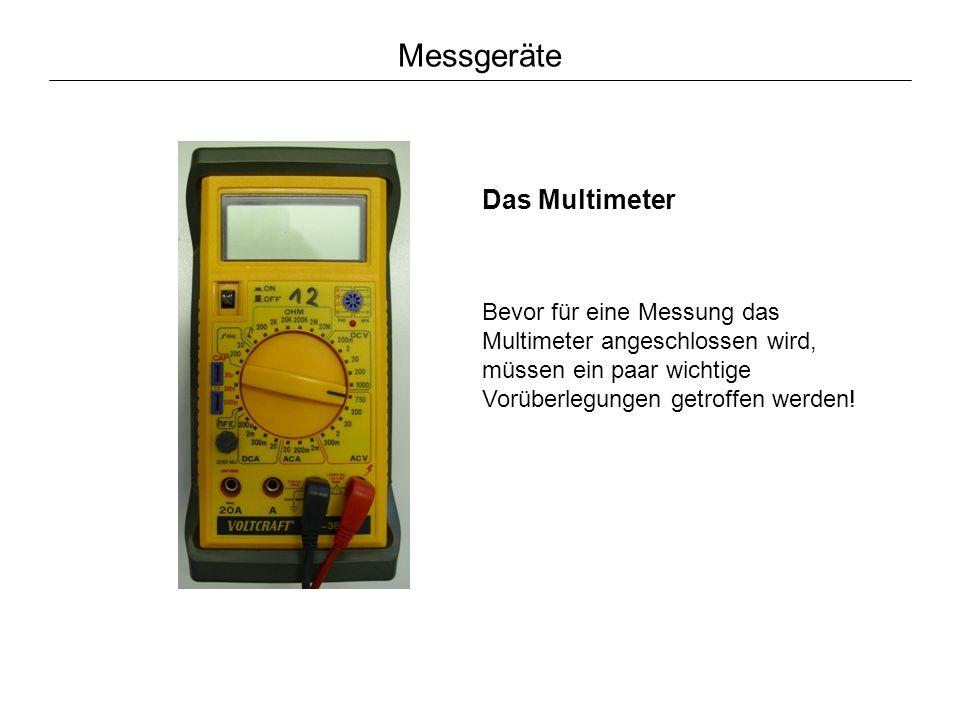 Messgeräte Das Multimeter