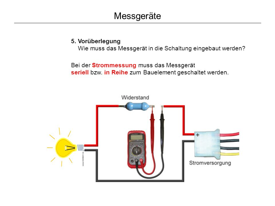 strom messen mit multimeter