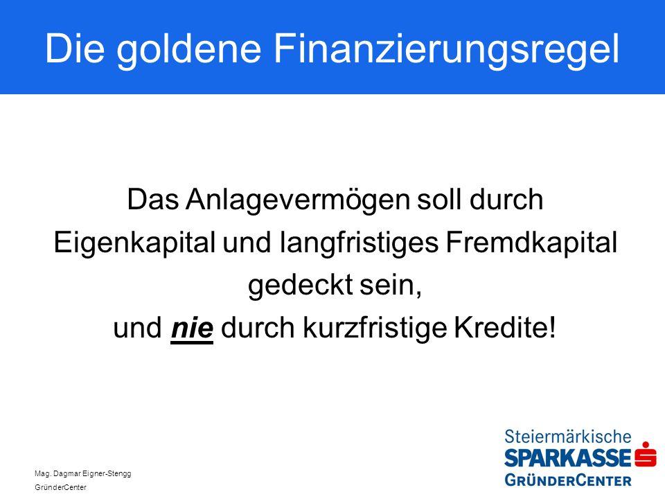 Die goldene Finanzierungsregel