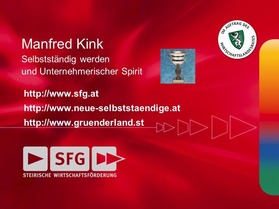 Manfred Kink Selbstständig werden und Unternehmerischer Spirit