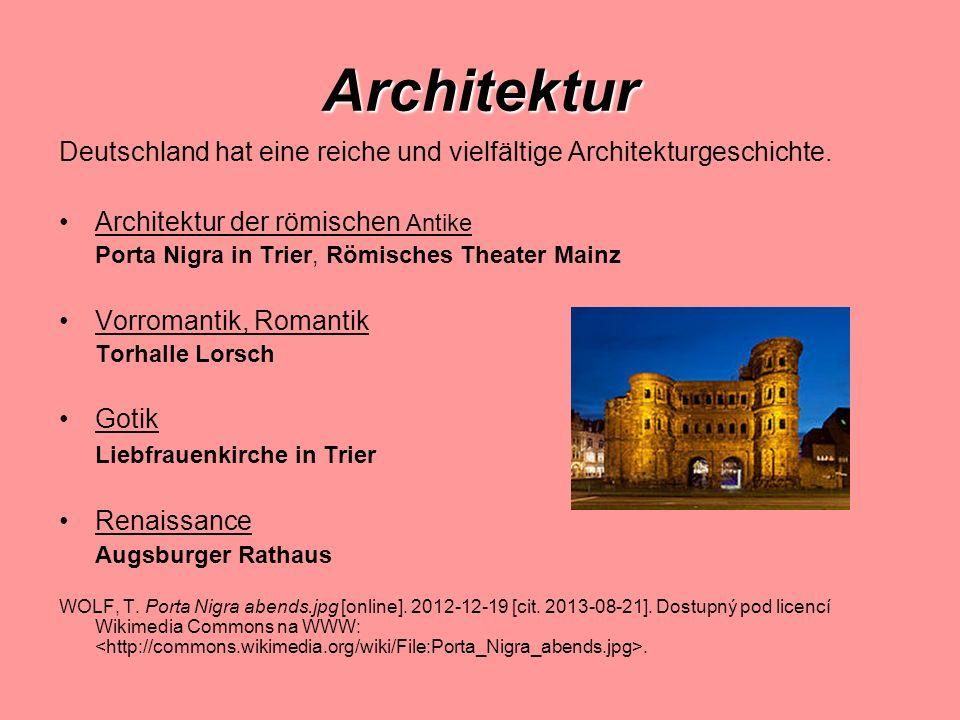 Architektur Deutschland hat eine reiche und vielfältige Architekturgeschichte. Architektur der römischen Antike.