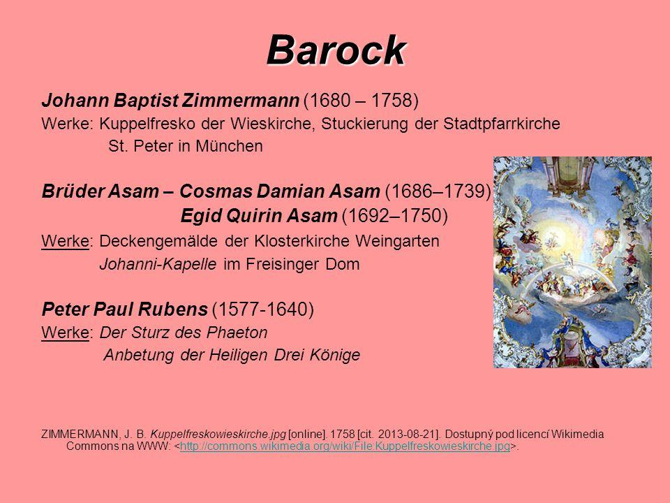 Barock Johann Baptist Zimmermann (1680 – 1758)