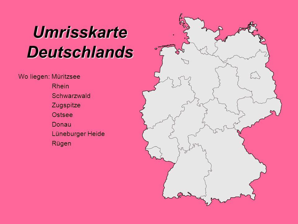 Umrisskarte Deutschlands