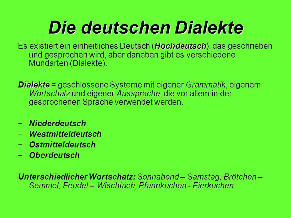 Die deutschen Dialekte