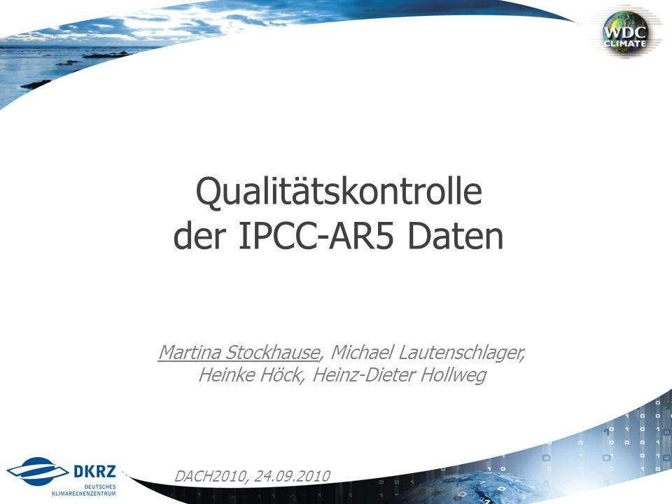 Qualitätskontrolle der IPCC-AR5 Daten