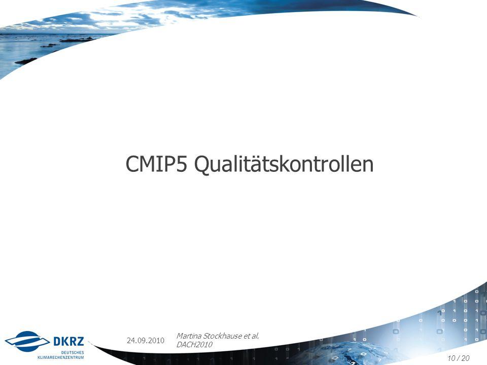 CMIP5 Qualitätskontrollen