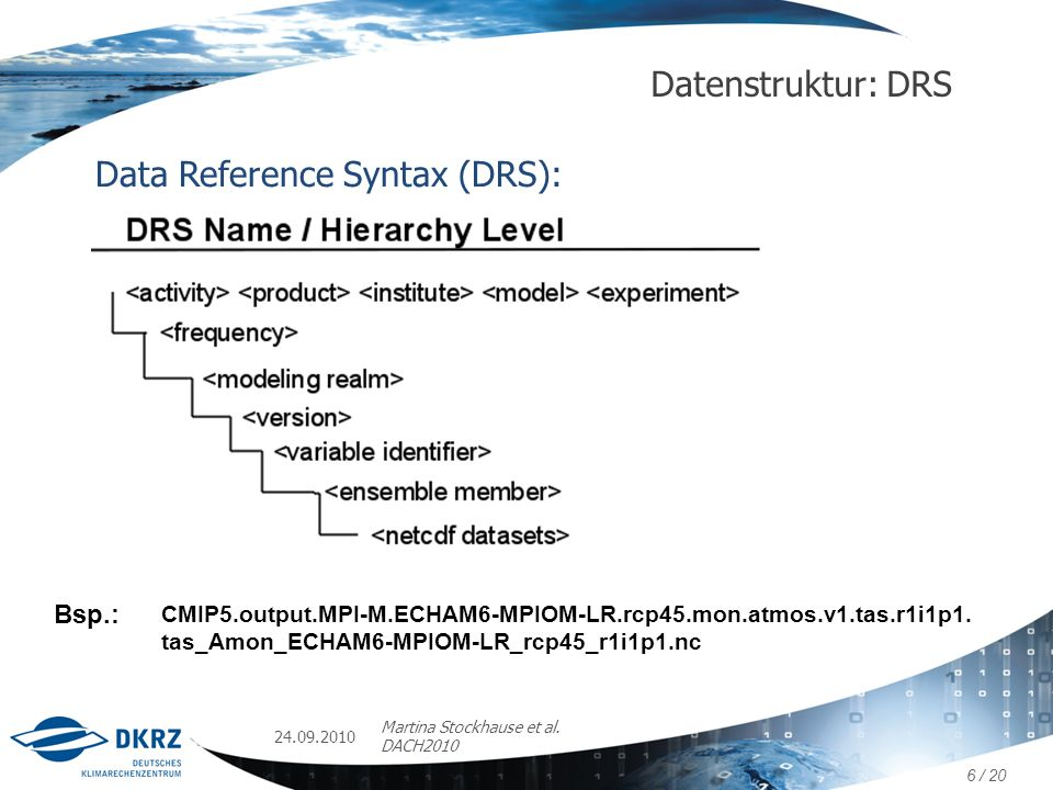 Data Reference Syntax (DRS):