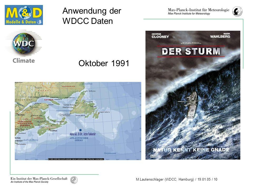Anwendung der WDCC Daten Oktober 1991