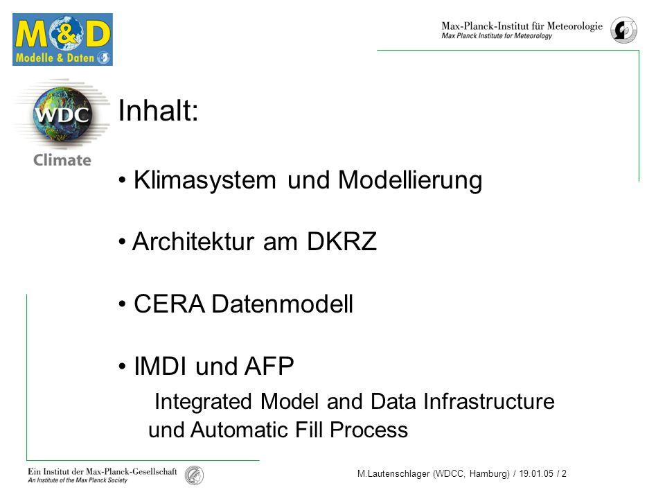 Inhalt: Klimasystem und Modellierung Architektur am DKRZ