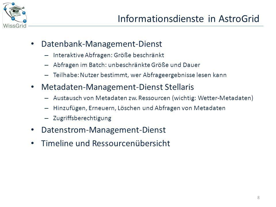 Informationsdienste in AstroGrid