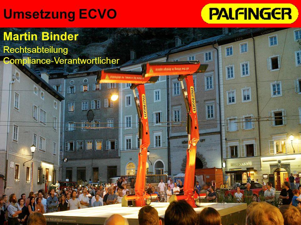 Umsetzung ECVO Martin Binder Rechtsabteilung