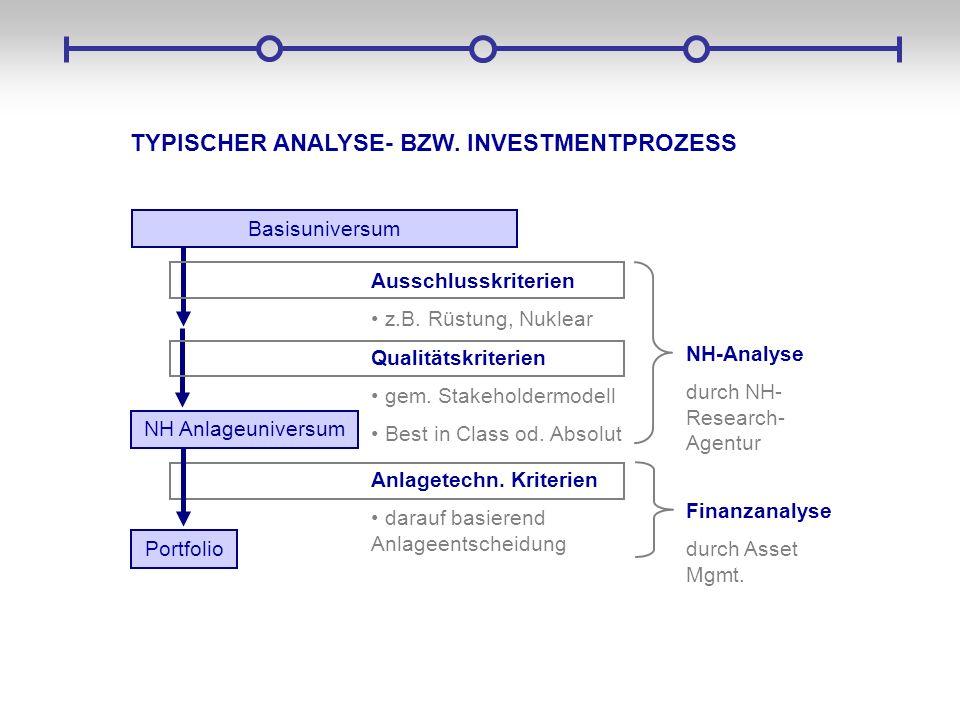 TYPISCHER ANALYSE- BZW. INVESTMENTPROZESS