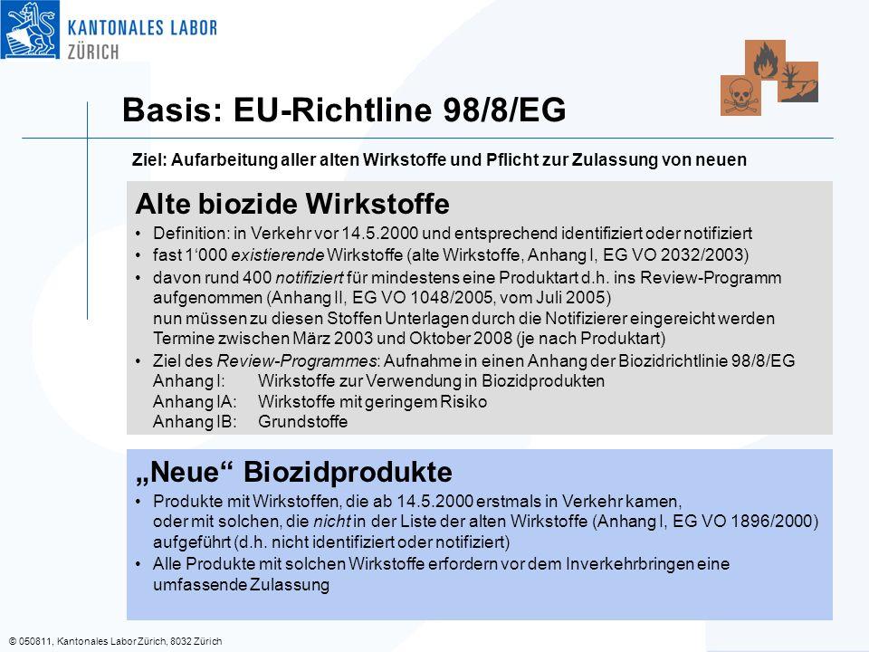 Basis: EU-Richtline 98/8/EG