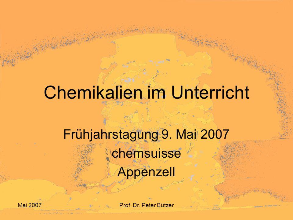 Chemikalien im Unterricht