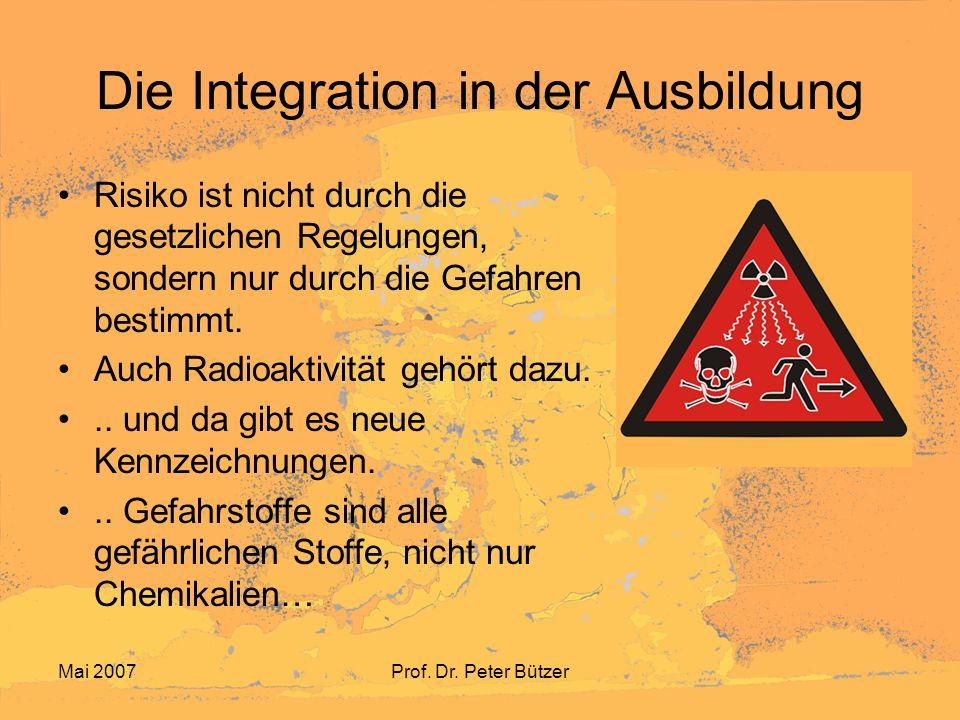 Die Integration in der Ausbildung